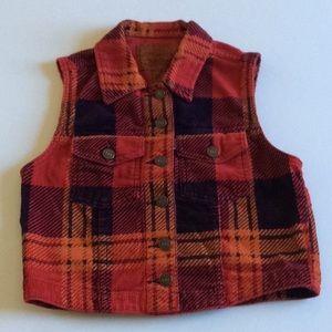 Levi's Vest Woman's Red Plaid Corduroy
